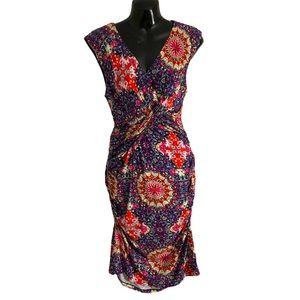 KUT FROM THE KLOTH wrap dress multicolored stretch